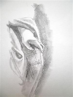 Etude de mains au Louvre n°2