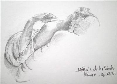 Détail de la sieste - Louvre
