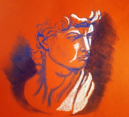 Détail du buste de David